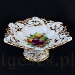 Okazała patera z wałbrzyskiej porcelany marki TPM