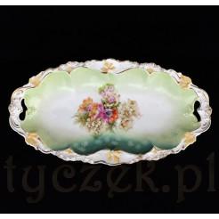 Piękna porcelanowa patera z dawnych Tułowic