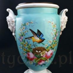 Porcelanowa amfora ręcznie malowana