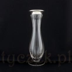 Finezyjny wazon Art Deco\: kryształ w srebrze