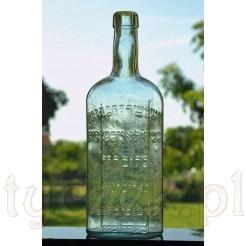 Zabytkowa żydowska butelka z napisami Pejsachówka