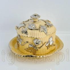 Ceramiczny antyk z XIX wieku w formie niezwykłej maselniczki