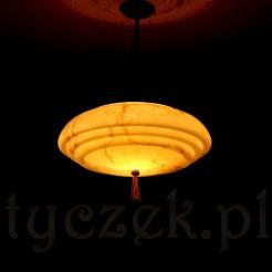 Świecący antyk - lampa w kolorze tygrysim