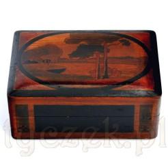 Intarsjowana szkatuła z okresu secesji