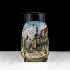 Kolekcjonerski kufel szklany z I połowy XX wieku