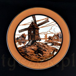 Luksusowy talerz ozdobny z wiatrakiem - wiejska sceneria