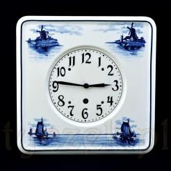 Holenderski motyw Delft na zabytkowym zegarze Junghans - Zobacz
