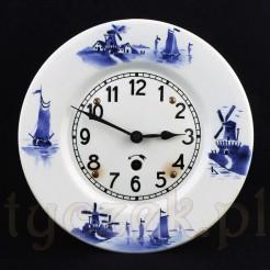Zegar w typie DELFT pięknie zdobiony i sprawny