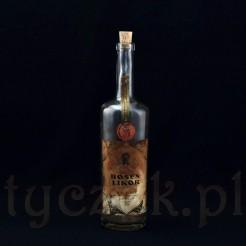 Stara buterlka po likierze różanym z Opola - Dawne OPPELN