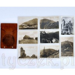 Komplet dawnych zdjęć z Gór wraz z etui Schneekoppe
