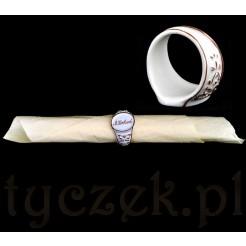 Antyczny serwetnik ze zdobionej porcelany