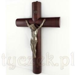 Drewniany krzyż na ścianę z lat trzydziestych XX wieku w stylu Art DECO