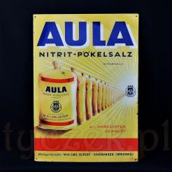 Szyld reklamowy marki Aula z workami soli