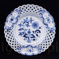 Doskonała i zabytkowa ozdoba porcelanowa z wzorem cebulowym