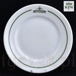 Porcelanowy antyk w formie talerza z napisami Bad Flinsberg Kurhaus