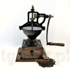 Największy i solidny młynek do kawy stojacy z żeliwa