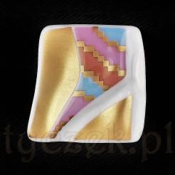 SIGNUM Efektowna broszka wykonana z cennej porcelany Rosenthal