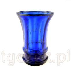 Wyjątkowa szklanica z XIX wieku z kobaltowego szkła dmuchanego