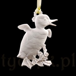 Kaczorek z białej porcelany