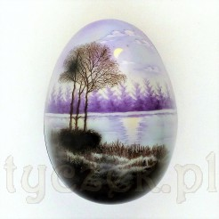 Urocze porcelanowe puzdro w kształcie jaja