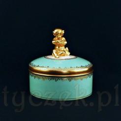 Porcelanowe cudeńko złocone prawdziwym złotem