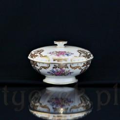 Pięknie zdobiony porcelanowy wyrób na stopce znamienitej marki Rosenthal Selb