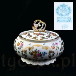 porcelanowa bomboniera w kwiaty
