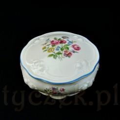 Przepiękne puzderko na toaletkę ze szlachetnej porcelany Thomas Ivory