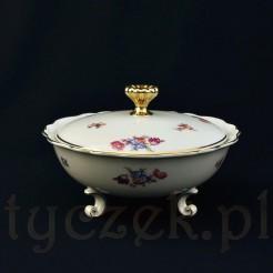 Bawarski okaz w formie bomboniery z markowej porcelany dawnej