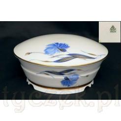 Markowa porcelana Rosenthal w niebieskie Chabry