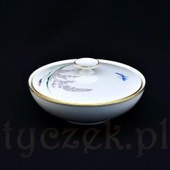 porcelanowa bomboniera z białej porcelany