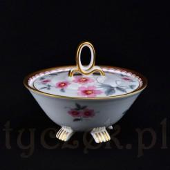 Ekskluzywna bomboniera ArT Deco z porcelany Sorau Carstens