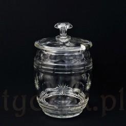 Zabytkowa waza do ponczu ze szlifowanego szkła kryształowego