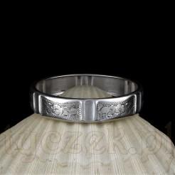 Zabytkowa bransoletka ze srebra próby 800.