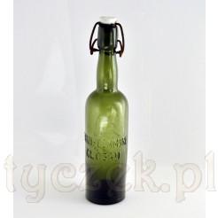 Antyk z Głogowa - browarniana butelka z porcelanką