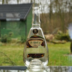 Stara butelka z Breslau zachowane oryginalne etykiety reklamowe
