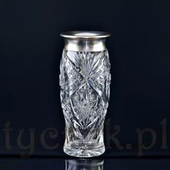 Okazały wazon kryształowy ze srebrem Lemor'a