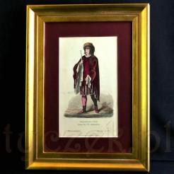 Wertylakna kompozycja z wizerunkiem młodego księcia burgundzkiego.