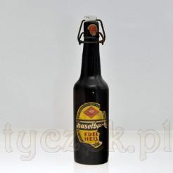 Etykieta browarniana marki Haselbach na starej butelce