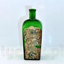 Kolekcjonerska butelka z etykietą E.Fechner Sorau
