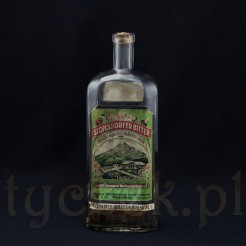 Butelka z etykietą oryginalna w secesyjnym stylu