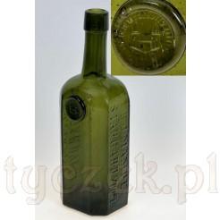Rewelacyjna butelka ze szklaną pieczęcią firmy MAMPE Stargard