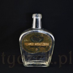 SORAU stara butelka z reklamowa nalepką FECHNER