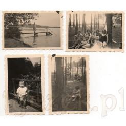 Zestaw pamiątkowych fotografii z wakacji