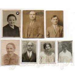 Kobiety i mężczyźni na dawnych zdjęciach legitymacyjnych- pamiątki