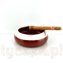 Popielniczka ceramiczna ze srebrem - UNIKAT