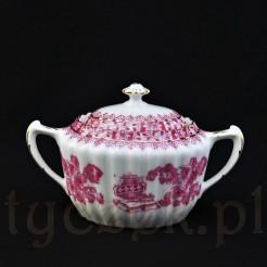 Porcelanowa cukiernica śląska ze wzoru China Rot