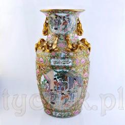 Chiński wazon luksusowy w stylu kantońskim