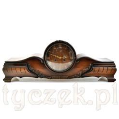 Okazały zegar mechaniczny marki FHS w stylu Chippendale