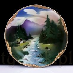 Zabytkowa śląska porcelana - dekoracyjna patera.